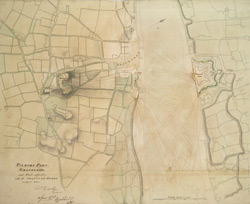 TILLBURY FORT, GRAVESEND and Parts adjacent; with the PROPOSED WORKS coloured in yellow